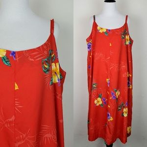 Hukilau Fashions Vintage Hawaiian Dress Floral